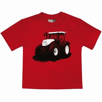 Picture of Children's Tractor T-Shirt, red
