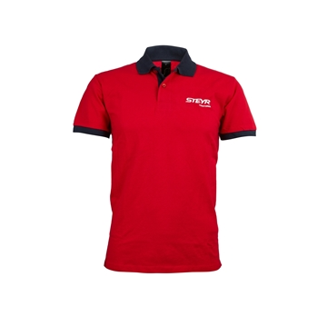 Picture of Red and navy men's polo shirt