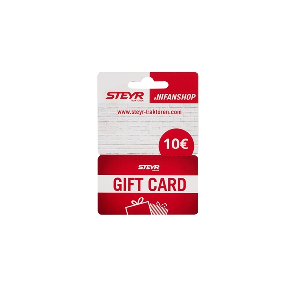 Picture of PHYSICAL GIFT CARD, CARDBOARD, 10€