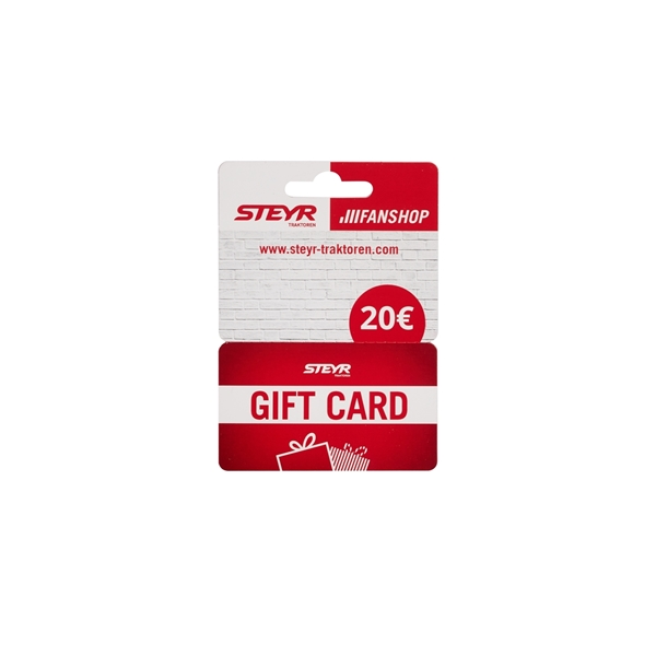 Picture of PHYSICAL GIFT CARD, CARDBOARD, 20€