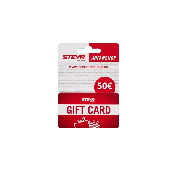 Picture of PHYSICAL GIFT CARD, CARDBOARD, 50€