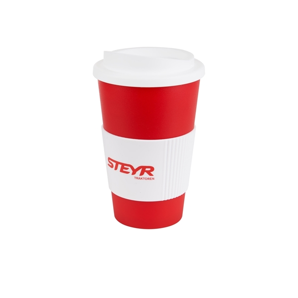 Picture of Red and white coffee mug